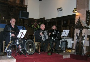 Les Tros Blondes in concert at St Mary's