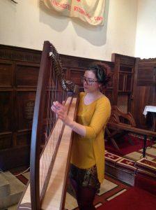 Pippa Reid-Foster, Harpist, at St Mary's Aberfoyle