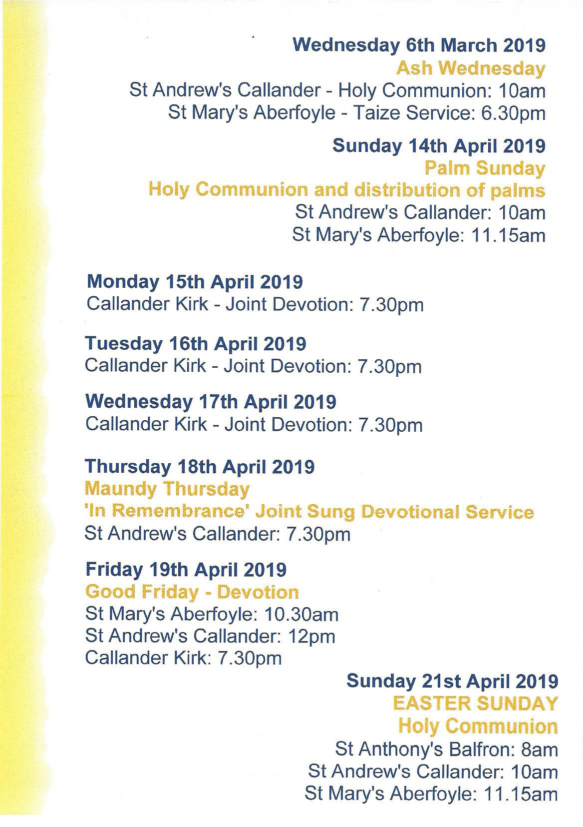 Easter at St Mary's 2019