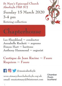 Chapterhouse Concert March 2020 St Mary's